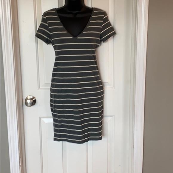 H&M Basic Striped Short-sleeve Dress
